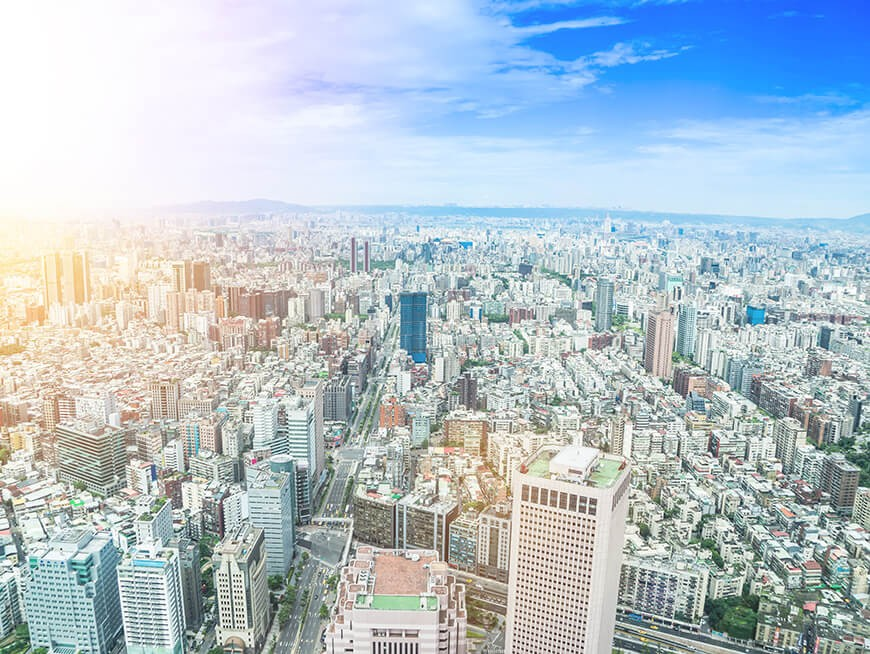 Get a birdseye view of the city from Taipei 101